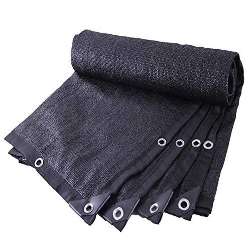 VZXFYG Sonnenschutz Netz 85% Schwarz Umschlingungswinkel Verschlüsselung Verdicken Benutzt for Carport Dach Terrasse Draussen, 23 Größen Schatten Tuch (Color : Black, Size : 2x4m)