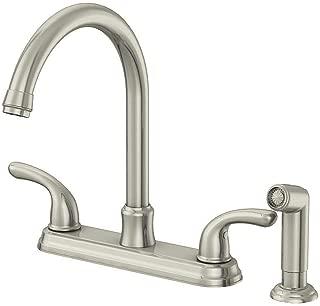 Glacier Bay 67552-1008D2 Builders 2-Handle Faucet w/Sprayer in Stainless Steel