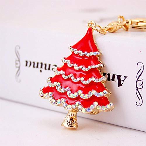 XIMAO Kerstboom Auto Sleutelhanger Creatieve Diamant Metalen Hanger Mode Vrouwelijke Tas Accessoires Sleutelhanger