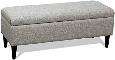 Amazon.com: GRJXMD Rectangular Grey Stool 4-Foot Ottoman Low ...