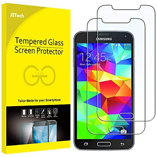 JETech Schutzfolie Kompatibel mit Samsung Galaxy S5, Gehärtetem Glas Bildschirmschutzfolie, 2 Stück