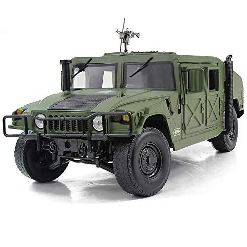 Fisca - Modelo de coche a escala 1/18 de metal fundido a presión, vehículo militar blindado, camión de campo de batalla