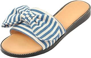 TAOFFEN Women Casual Slides Sandals Open Toe