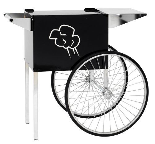 Paragon - Manufactured Fun Contempo Medium Popcorn Cart for 6 and 8-Ounce Poppers (Black)