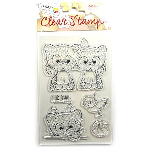 Unbekannt Clear Stamps, Clear Stamps, Clear Stamp, Transparent-Stempel, Silikon-Stempel, Acryl, Transparent Chats, for You, Oiseau, Ballon