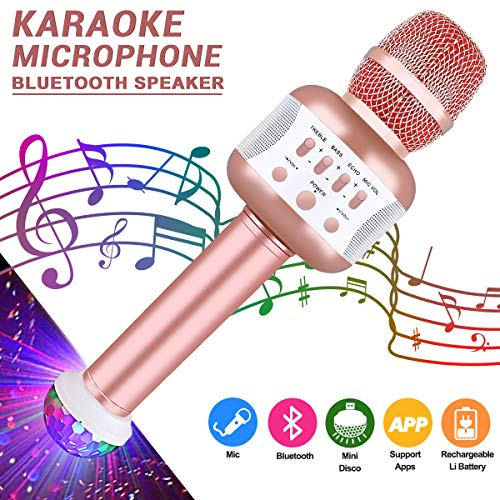 Leeron Bluetooth Karaoke-Mikrofon mit Disco-Lichtern