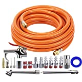 Tool Daily Air Compressor Kit, 3/8 Inch X 25 FT Hose, 18 Pieces Air Tool Accessories, 1/4 ...