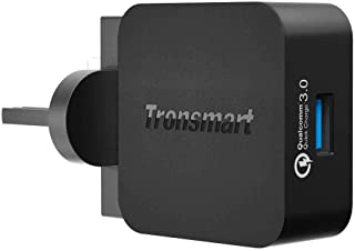 Tronsmart WC1T-UK-BK QC3.0 Wall Charger 18W UK - Black - (Pack of1)