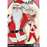 【クリスマスコスプレ】サンタクロース 【メンズ スタンダード】 トップス・パンツ・ベルト・帽子・グローブ・サンタ袋・眉毛・髭【代引不可】 ds-1950501