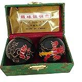 Baoding Balls Chinese Health Massage Exercise Stress Balls -Black Dragon & Phoenix #2