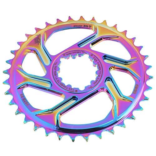 Alomejor1 Disco Positivo y Negativo de Bicicleta de montaña de 6MM 30T/34T/36T Bicicleta Colorida Disco de Rueda de Cadena Simple Disco Integrado de Montaje Directo GXP(30T)