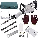 Kit de herramientas para martillo de demolición de hormigón eléctrico de 1700 W
