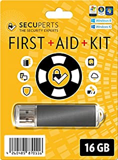 SecuPerts First Aid Kit - Data Recovery Stick and Virus-Scanner - 16GB USB3.0-Stick