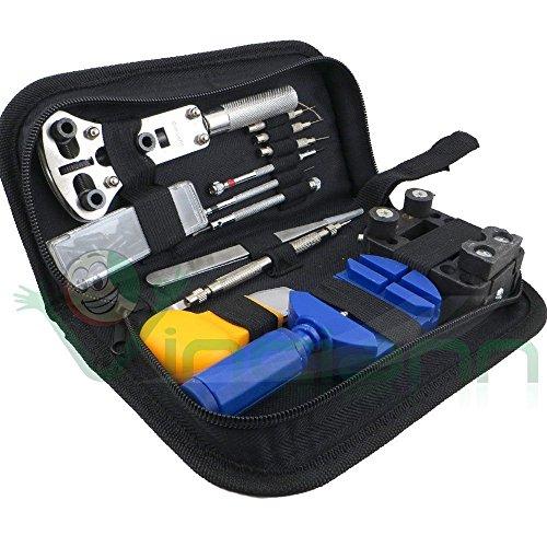 Kit 13 pezzi set professionale+custodia strumenti riparazione orologio orologi