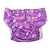Yinhing Adult Cloth Diapers, Washable Reusable Adjustable Breathable Anti-Leakage Adult Diapers for Elderly,Reusable Cloth Diapers Comfortable and Breathable, Waterproof and Moisture Absorbing(H28)