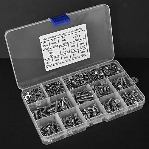 SUS304 Sechskantschraube Mutter Unterlegscheibe 662 Stück Senkkopf für elektrische Anschlüsse für den Haushalt für elektrische Anwendungen
