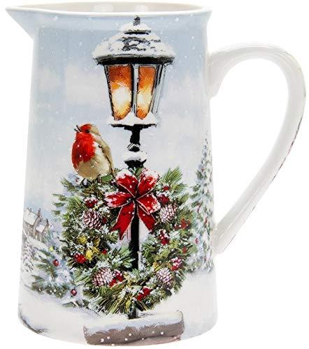 The Leonardo Collection Milchkännchen aus feinem Porzellan, Weihnachtsmotiv, in Geschenkbox