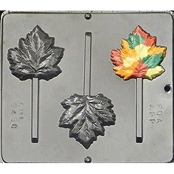 Maple Leaf/Fall Leaf/Autumn Leaf Lollipop Chocolate Candy Mold 3436