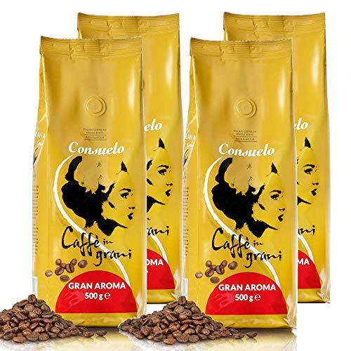 Consuelo Gran Aroma Italian Coffee Beans, 500g (4-Pack)