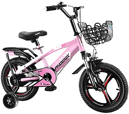 YAOJIA strider kids bike Kids Bike With Detachable Training Wheels | 2-13 Years Boys And Girls 12/14/16/18 Inch Road Bikes,Adjustable Seat ,multiple Colour (Color : Pink, Size : 12in)