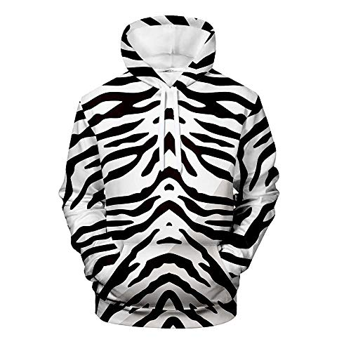 HUIYIYANG Tees Mens Womens Realistic 3D Printed Black and White Simple Pattern Hoodies Novelty Pullover Hooded Sweatshirts with Pocket 17 Pattern XL