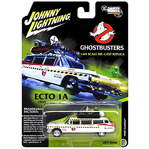 Johnny Lightning - Ghostbusters' Ecto 1A, a 1959 Cadillac Eldorado as a diecast car, Scale 1/64