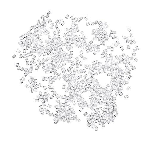 D DOLITY 1000Unidades Transparente Goma ohrstopper Oído Gancho Pendientes Pescado Ganchos ohrfedern Cierre Cierres Tope para Pendientes, PVC, Blanco, Kunststoff 3x3mm