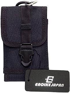 Eaoike スマートフォンポーチ スマホケース カラビナ付 iPhone8?8Plus対応 (ブラック)