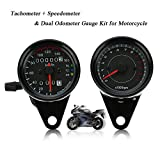 KKmoon 12V Motorrad 13000rpm Tachometer Km