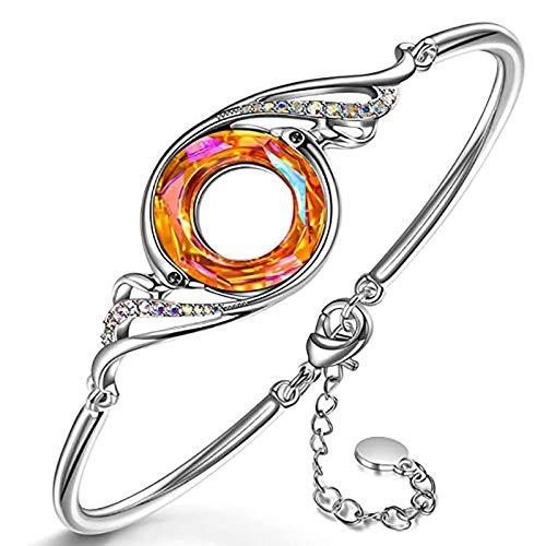 Nuevos productos Accesorios Phoenix Crystal Jewelry Pulsera Pendientes Collar Set Moda Mujer creativa