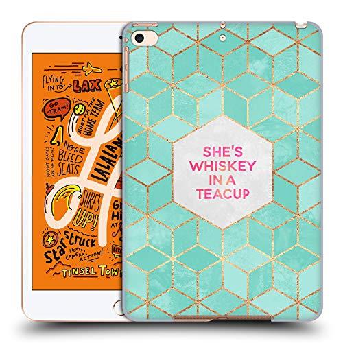 Officiële Elisabeth Fredriksson Ze is whisky in een theekopje Typografie Hard Back Case Compatibel voor Apple iPad mini (2019)