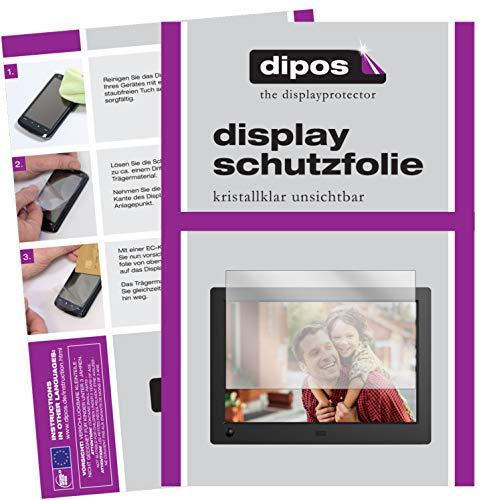 dipos I 6X Schutzfolie klar kompatibel mit NIX Advance 8 Zoll Widescreen Digitaler Bilderrahmen Folie Displayschutzfolie