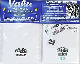 Yahu Model 1:72 PZL P.23 P.42 P.43 Color Instrument for IBG Detail Set #YMA7285