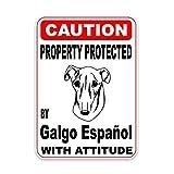 TLZDGX LILI0085 PRECAUCIÓN Pegatina de automóvil Propiedad Protegida por la Ventana de Vinilo para Perros Perrero Solar de la Ventana Trasera Decoración Impermeable 15cm * 11cm (Size : 30cm x 22cm)