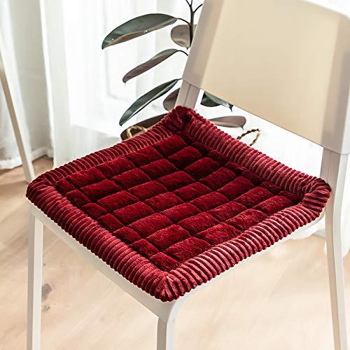 WZLJW Home Slip Free Silla Pads Durable Suave con Corbatas Seguras Sillón Cojín Cuidado Fácil,Cojines De Asiento Extra Gruesos-Rojo a 45x45cm