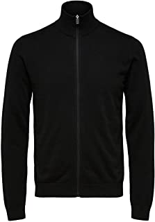 Selected Men's Slhberg Full Zip Cardigan B Noos Sweatshirt