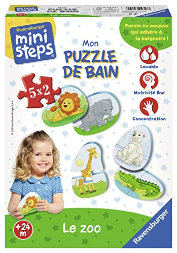 Ravensburger - 04727 - Puzzle bain-zoo - Ministeps