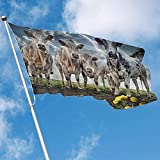 wallxxj Garten Flagge Flagge Bauernhof Kuh Dekorative Flagge Polyester Flagge Indoor Outdoor Banner Garten Flagge 150X90 cm