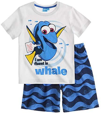 Disney Findet Dory Shorty Pyjama 2016 Kollektion (116, Weiss)