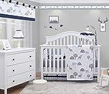 OptimaBaby Woodland Nursery Decor for Boys Forest Deer 6 Piece Baby Nursery Baby Boy Crib Bedding Set, Crib Bedding Sets for Boys, Baby Bedding Crib Sets boy