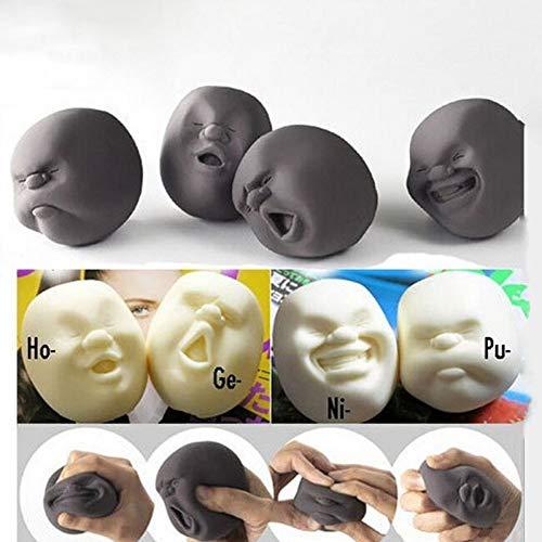 BYFRI 1pc Lustige Neuheit-Geschenk Der Japanischen Gadgets Vent Menschliche Gesichts-Kugel Anti Stress Duft Caomaru Toy Geek Gadget Vent Toy