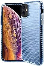 KINGCOM - جرابات مناسبة - جراب شفاف من البولي يوريثان الحراري لهاتف Samsung Galaxy S20 Ultra Note 20 10+ Plus 5G Honeycomb Crystal Slim Fit Shell Cover Back Protection (Blue forGalaxy Note20 Pro)