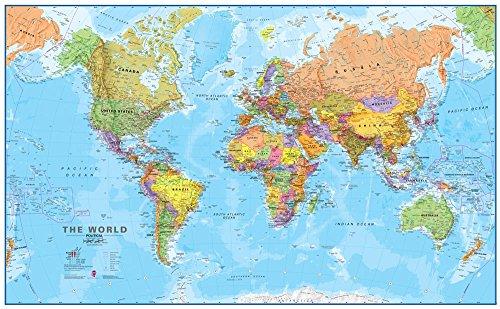 Giant World MegaMap, Laminated, 77
