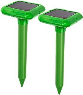VENSMILES 2019 Upgraded Solar Ultrasonic Mole Repellent Groundhog Pest Deterrent Gopher Repeller Vole Chaser for Lawn Garden Yard Outdoor 2 Pack