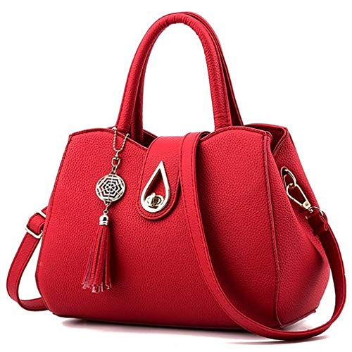 ★ Unique appearance & Delicate lining: High quality Soft PU Leather(environmentally-friendly synthetic leather, not genuine leather) with modern gold-toned hardware. Tassel decoration and unique metal ornaments, carefully designed drop-shaped buckle....