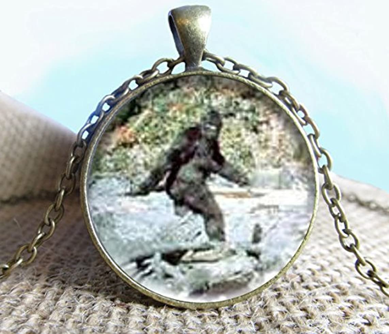 Jewelry tycoon?Bigfoot Image Pendant/Necklace Jewelry, Fine Art Necklace Jewelry, Bigfoot, Sasquatch Photo Jewelry Glass Pendant Gift