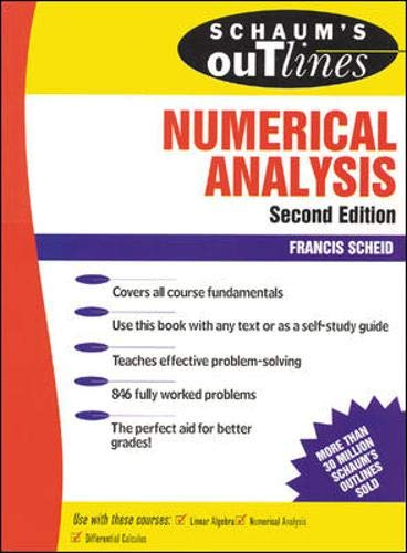 Compare Textbook Prices for Schaum's Outline of Numerical Analysis 2 Edition ISBN 9780070552210 by Scheid, Francis