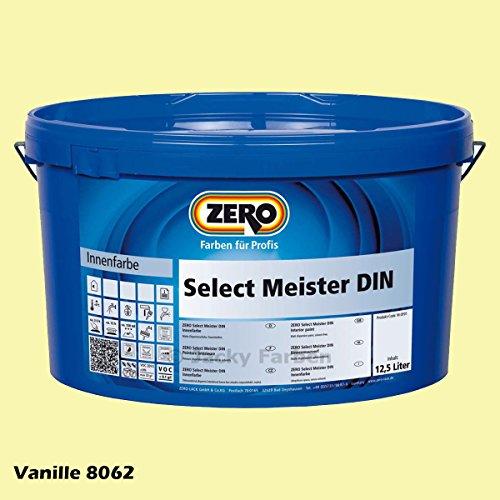 ZERO Select Meister DIN 12,5 L Profi Wandfarbe Innenfarbe, Vanille