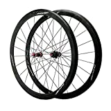 ZCXBHD 700C Vélo Route Paire De Roues Fibre Carbone Centre 40mm Jante en Aluminium Avant Et...