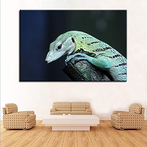 zzlfn3lv Impresión HD Decoración Moderna para el hogar Lona Sala de Estar 1 Panel Forest Animal Lizard Pintura Arte de la Pared Modular Frameless Poster Frame Picture 1 50x75cmx1pcs